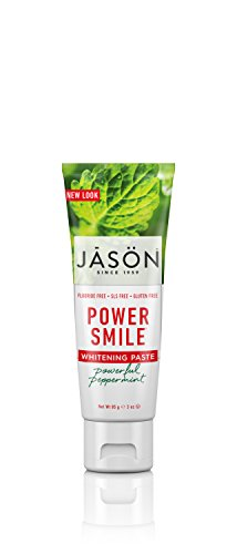 Jason Natural, Power Smile, Antiplaque & Whitening Toothpaste, Powerful Peppermint - 3 oz