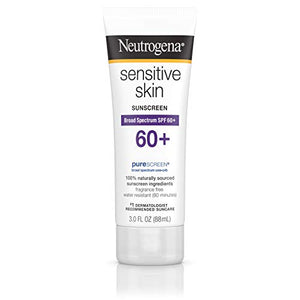 Neutrogena Sensitive Skin Sunblock Lotion SPF 60 - 3 OZ.