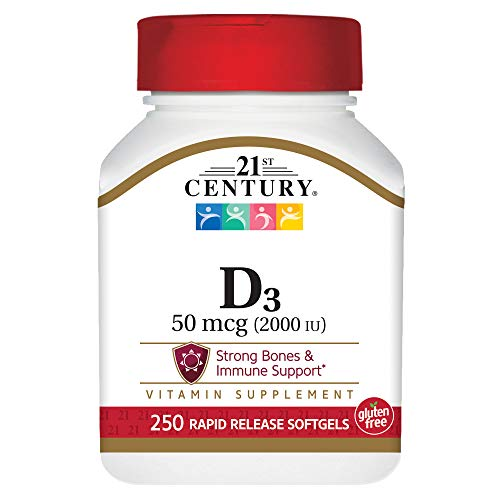 21st Century Vitamin D3-2000 IU Super Strength Softgels - 250 Ea