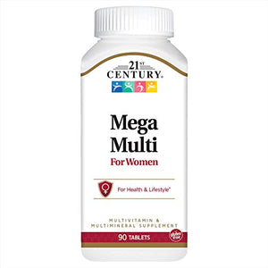 21st Century Mega Multi Vitamin For Women Tablets - 90 ea.