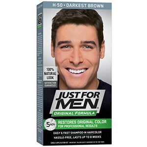 Just For Men Shampoo-In Hair Color, Darkest Brown 50 - 1 ea.