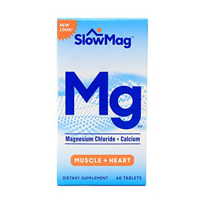 Slow-Mag Magnesium Chloride With Calcium Tablets - 60 ea