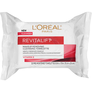 Loreal RevitaLift Radiant Smoothing Wet Cleansing Towelettes - 30 ea