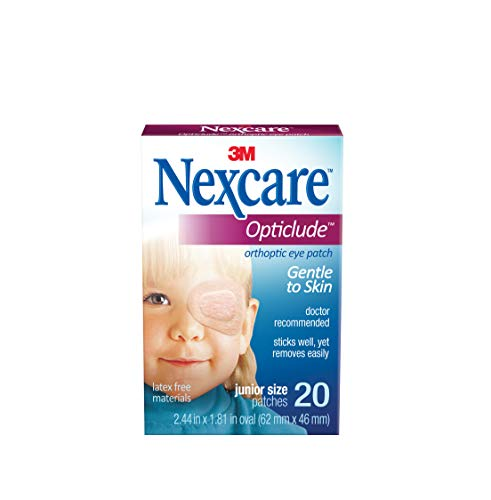 Nexcare Opticlude Orthoptic Eye Patches, Junior Size, 20-ct Boxes