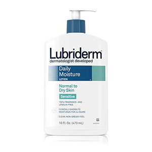 Lubriderm daily moisture lotion for normal - sensitive dry skin -  16 oz