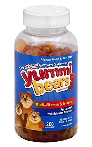 Yummi Bears Multi-Vitamin & Mineral, 200-Count Gummy Bears.