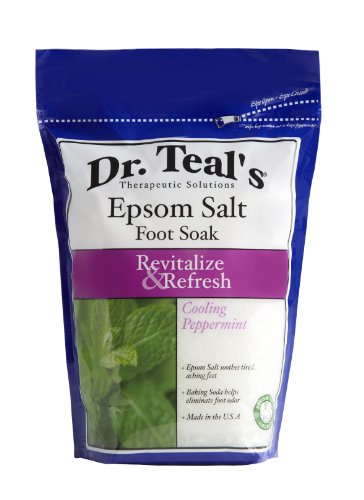 Dr. Teals Revitalize and Refresh Epsom Salt Foot Soak With Cooling Peppermint - 2 lb