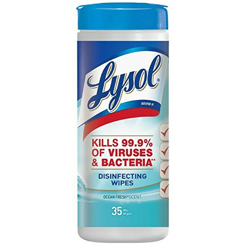 Lysol 4 In 1 Disinfecting Wipes, Ocean Fresh - 35 ea, 12 pack.