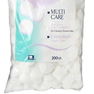 Swisspers multi care cotton balls triple size - 200 Ct