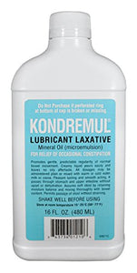Kondremul lubricant laxative, mineral oil for the relief of constipation - 480 ml