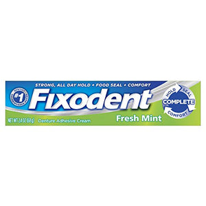 Fixodent fresh denture adhesive cream - 2.4 oz