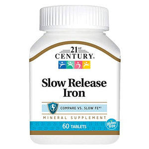 21st Century Slow Release Iron Tablets - 60 ea