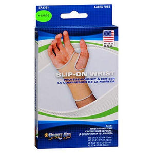 Sportaid Wrist Brace Slip-On, Beige, X-Large - 1 ea