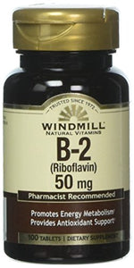 Windmill Vitamin B-2 50 mg Tablets - 100 ea