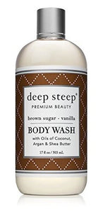 Deep Steep, Body Wash, Brown Sugar - Vanilla, 8 fl oz.