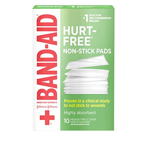 Featured! Band Aid First Aid Covers Non Stick Pads, Medium 2 Inch X 3 Inch - 10 ea