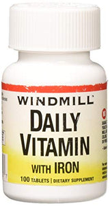 Windmill daily vitamin with iron and beta carotene tablets - 100 ea