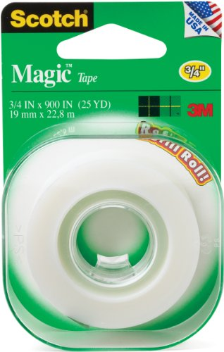 3M Scotch Magic Tape Refill, 250L, Size: 0.75 in. x 900 in - 12 Rolls