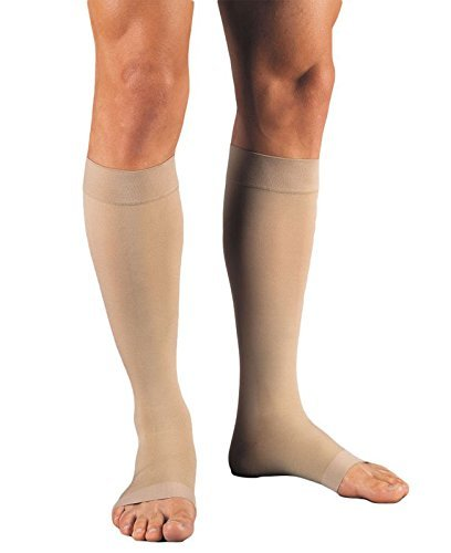 Jobst Medical Legwear Stockings Relief Compression Knee High 30-40 mm/Hg, Open Toe Beige, X-Large Full Calf - 1 ea