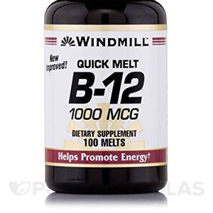 Windmill sublingual vitamin B-12 1000 mcg dietary supplement tablets - 100 ea