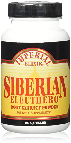 Imperial Elixir - Siberian Eleuthero Extract 500 mg - 100 Capsule.