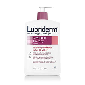 Lubriderm advanced therapy moisturizing lotion for extra dry skin - 16 Oz.