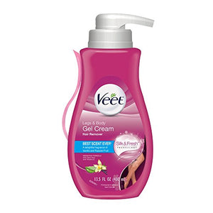 Veet 3 Minute Hair Removal Gel Cream Pump for Sensitive Skin - 13.5 OZ