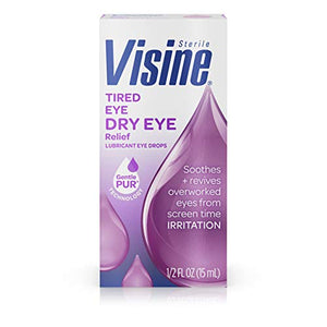 Visine Tired eye relief lubricant eye drops- 0.5 oz