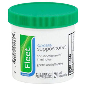 Fleet Glycerin Laxative Adult Suppositories Jar - 24 ea