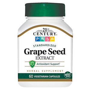 21st Century Grape Seed Extract Veg-Capsules, 60-Count