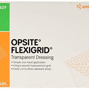 Smith and Nephew Opsite Flexigrid 4 Inches X 4 3/4 Inches Transparent Adhesive Dressing - 10 Ea