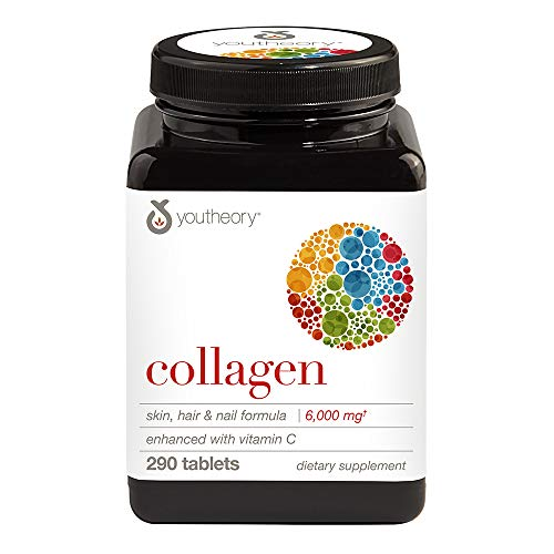 Youtheory - Collagen Advanced Formula Type 1,2 & 3 - 290 Tablets.