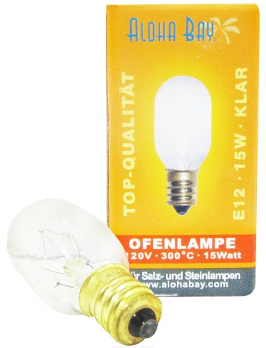Himalayan Salt - Lamp Replacement Bulb 15 Watts/110 Volts Clear.