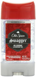 Old Spice Red Zone Clear Gel Antiperspirant and Deodorant, Swagger - 4 OZ