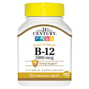 21st Century Sublingual Vitamin B-12 5000 mcg Tablets - 110 ea