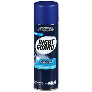 Right Guard Sport Antiperspirant Deodorant Powder Dry - 6 oz