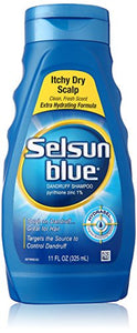 Selsun Blue Dandruff Shampoo for Itchy Dry Scalp -  11 Oz.