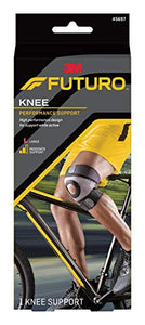 Futuro Sport Moisture Control Knee Support, Black and Blue Large - 1 ea