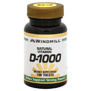 Windmill natural vitamin D-1000 tablets to support strong bones - 100 ea
