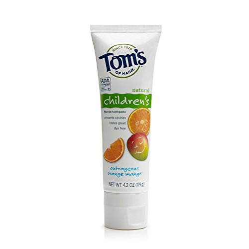 Tom's of Maine - Natural Toothpaste Children's With Fluoride Outrageous Orange-Mango - 4.2 oz.