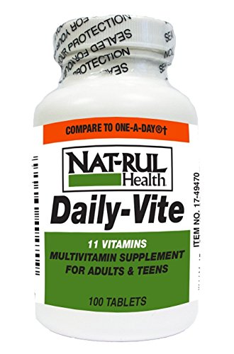 Natrul Health Daily - Vite MultiVitamin Tablets for Adults and Teens - 100 ea