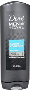 Dove men plus care body and face wash, clean comfort - 18 oz