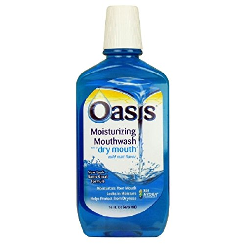 Oasis Mouth Wash For Dry Mouth From Sensodyne, Mild Mint - 16 oz