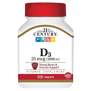 21st Century D 1000 iu Extra Strength Tablets - 300 ea