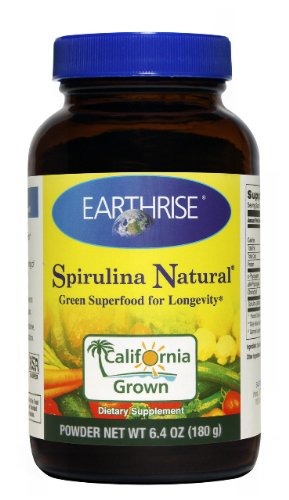 Earthrise - Spirulina Natural Green Super Food For Longevity Powder - 6.4 oz.