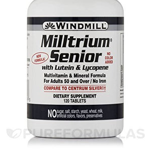 Windmill Milltrium Senior Tablets with Lutein - 120 ea