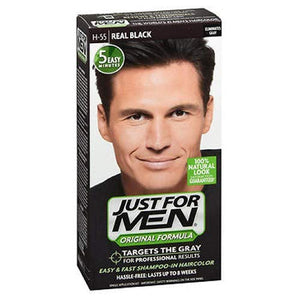 Just For Men Shampoo In Hair Color, Real Black 55 - 1 ea.