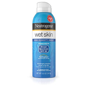 Neutrogena  Spray, SPF 50 - 140 gmWet Skin Sunscreen.