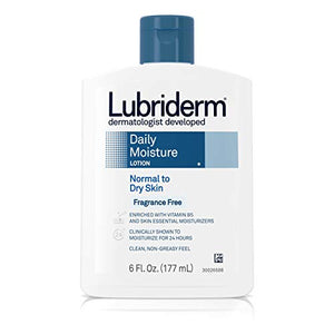 Lubriderm Fragrance Free Daily Moisture Lotion - 6 oz