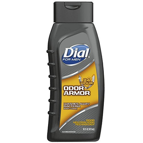 Dial for Men 24 Hour Odor Armor Antibacterial Body Wash - 16 Oz.